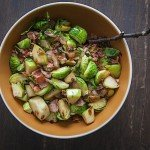 Granny Smith Apples, Brussels Sprouts and Pancetta Side Dish