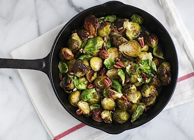 Duck Fat Roasted Brussels Sprouts - Chez Us