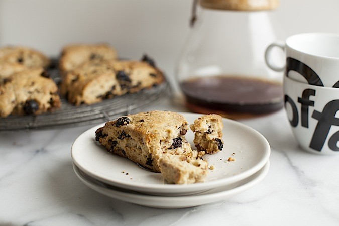 Sour Cherry Walnut Scones