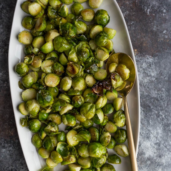 Duck Fat Roasted Brussels Sprouts