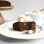 Gingerbread Snack Cake with Bourbon Hard Sauce