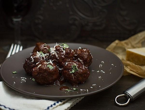 Slow Braised Italian Meatballs