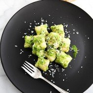 Potato Gnocchi with Pea Mint Sauce