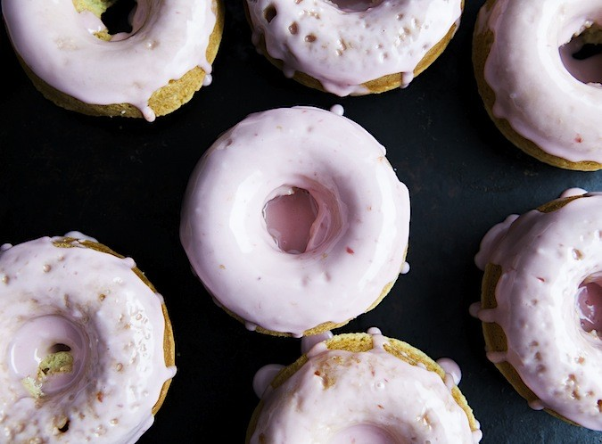 Buttermilk Cardamon Doughnuts with a Blood Orange Glaze