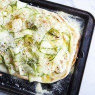 Zucchini Mascarpone Cheese Flatbread