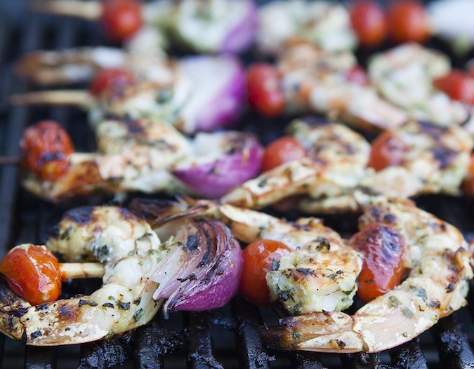 Grilled Herbed Shrimp Skewers
