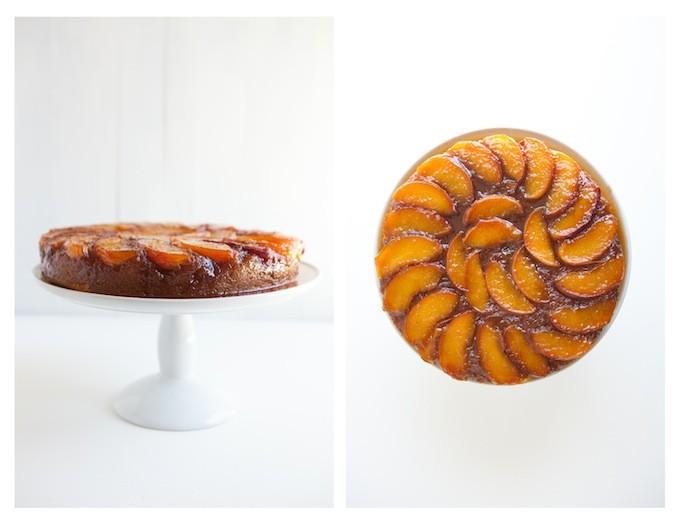 Peach Bourbon Cake