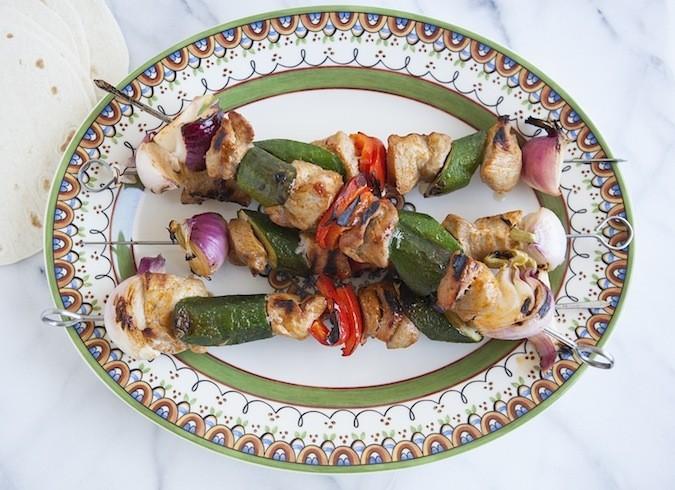 Old El Paso Grilled Pork Kabob Fajitas