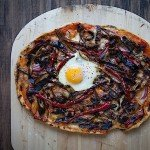 Grilled Eggplant and Carmen Pepper Pizza