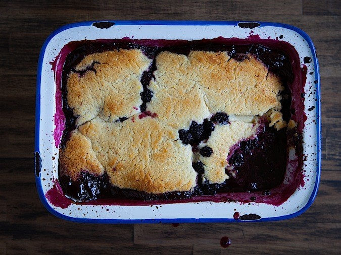 Downieville California and Blackberry Cobbler