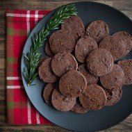 Chocolate Shortbread with Smoked Sea Salt