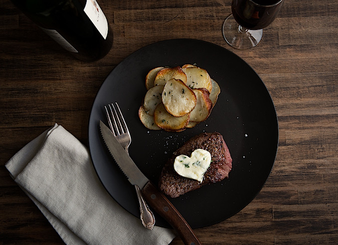 Porcini Crusted Tenderloin Filet with Fresh Herb Butter