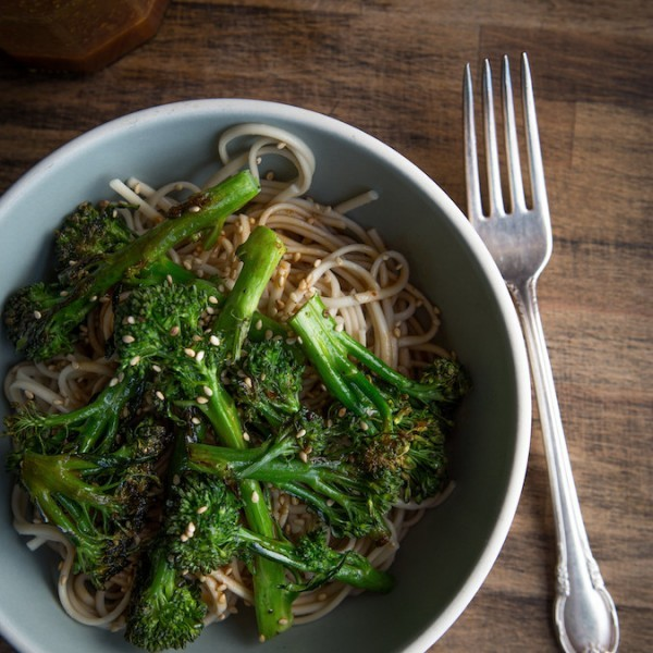 Soba Noodles with Roasted Broccoli | Chez Us