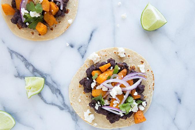 Chipotle Lime Butternut Squash Tacos | Chez Us