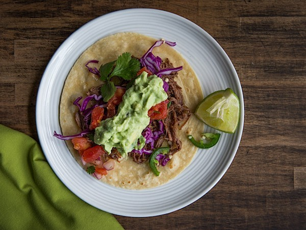 Slow Cooker Shredded Beef Tacos | Chez Us