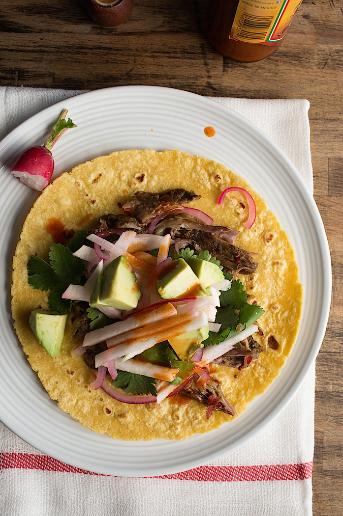 Slow Cooker Barbacoa Style Lamb Tacos  |  Chez Us