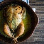 Cilantro Scented Roast Chicken