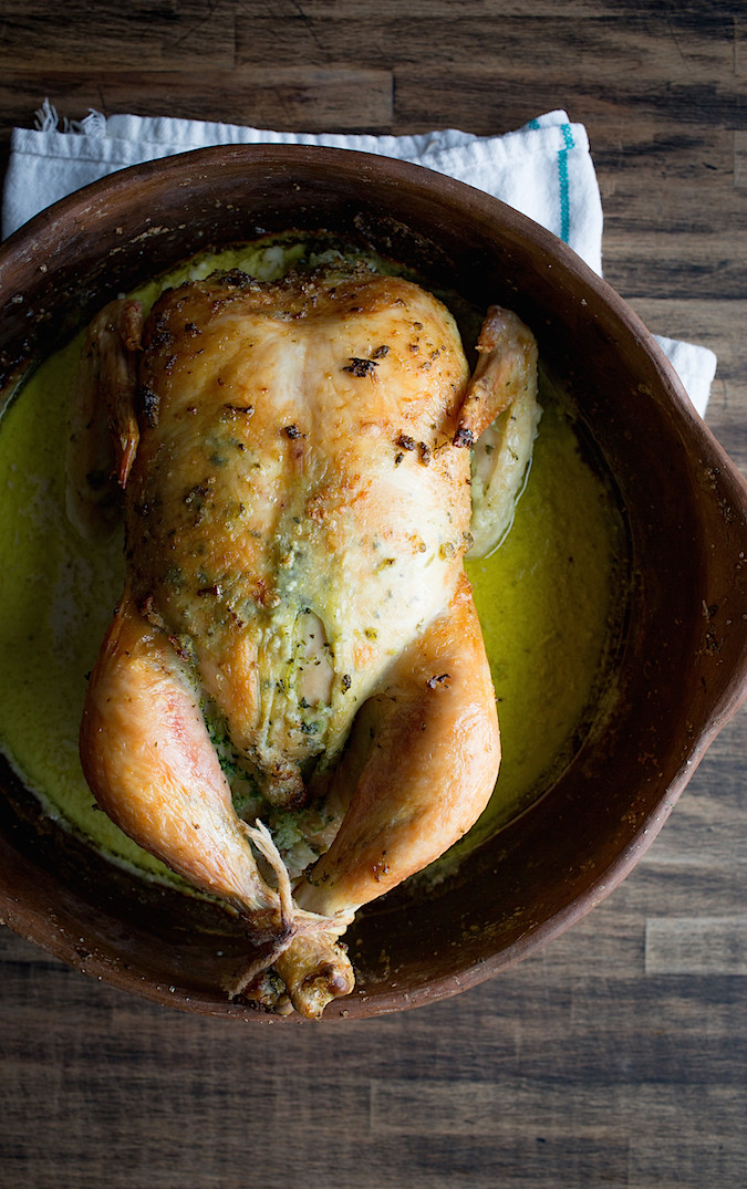 Cilantro Scented Roast Chicken