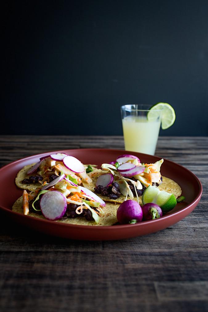 Black Bean Tacos  |  Chez Us