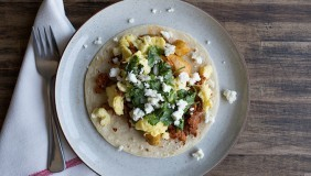 Chorizo Potato Breakfast Tacos | Chez Us