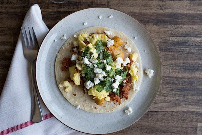 Chorizo Potato Breakfast Tacos   Chez Us