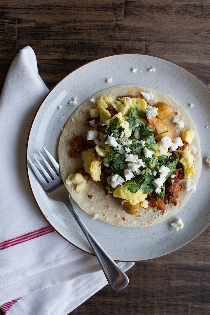 ... breakfast are tacos especially these chorizo potato breakfast tacos