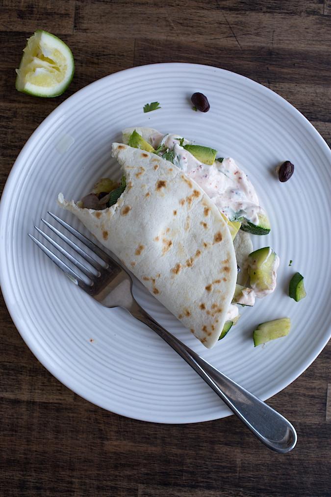 Zucchini Black Bean Tacos |  Chez Us