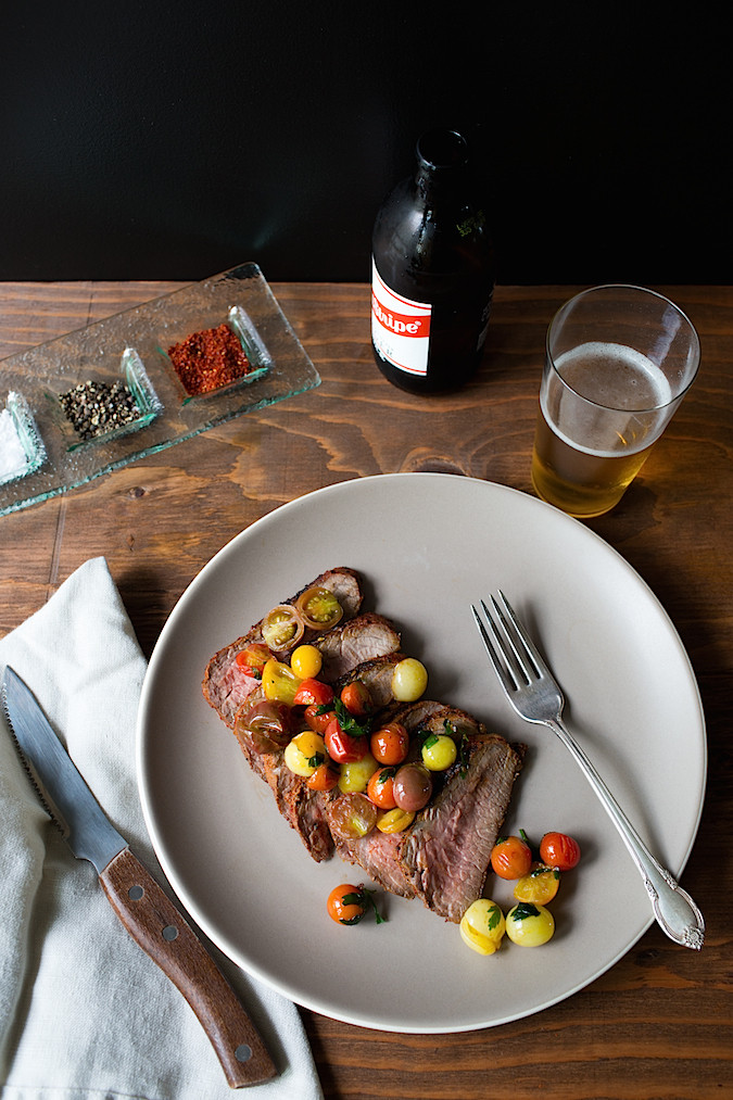 Piment d'ville Crusted Tri Tip |  Chez Us