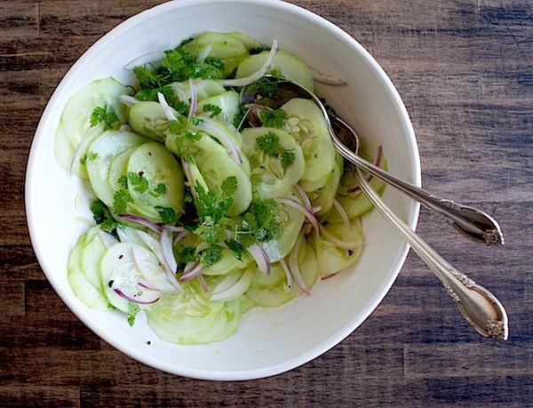 Cucumber Chervil Salad | Chez Us