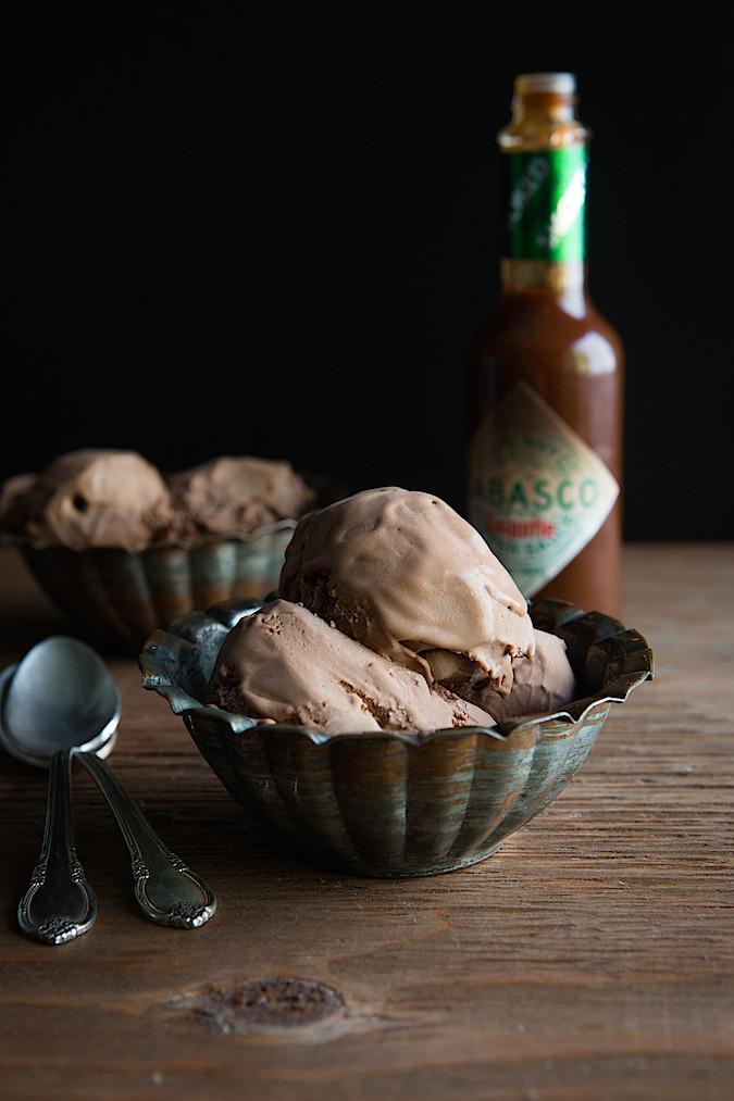 Tabasco Smoked Chipotle Dark Chocolate Ice Cream   Chez Us