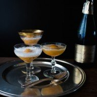 Champagne Peach Floats