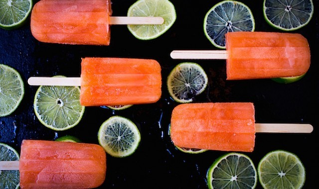 Aperol Limeade Popsicles