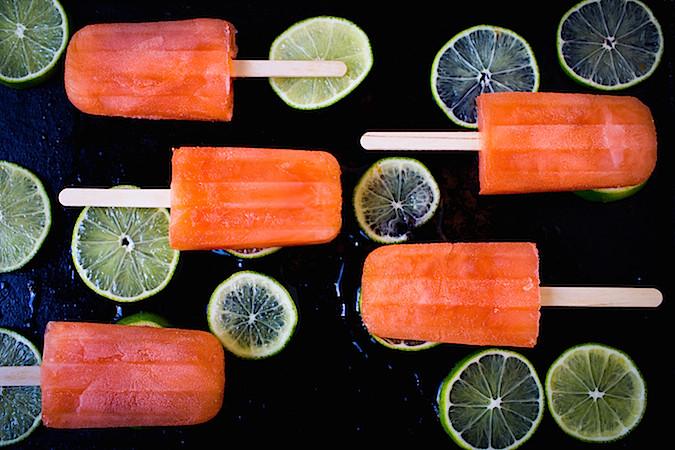 Aperol Limeade Popsicles