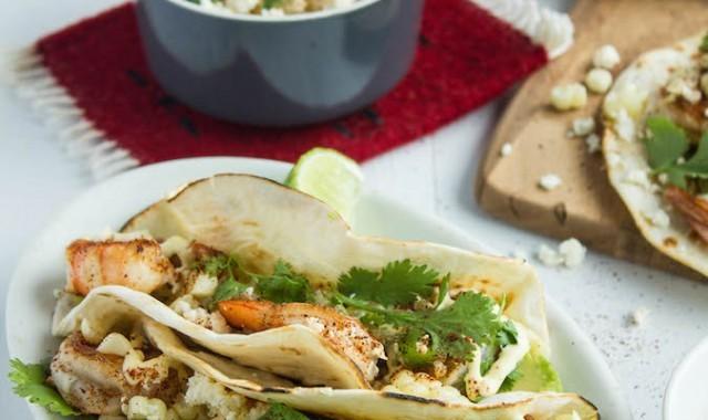 Shrimp and Elotes Tacos | Chez Us