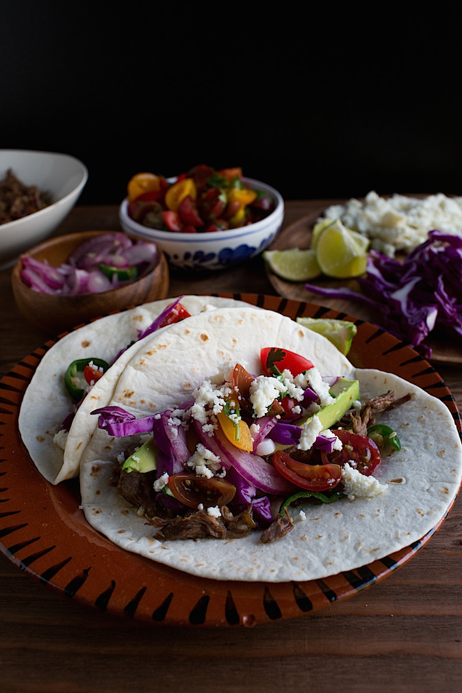 Slow Cooker Beef Short Rib Tacos  |  Chez Us