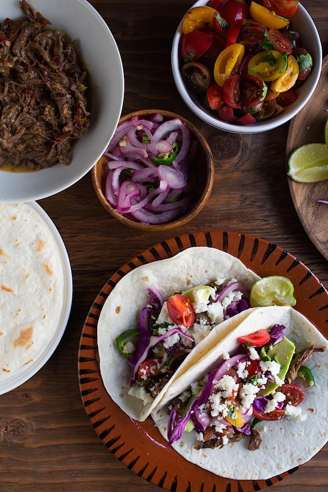 Slow Cooker Beef Short Rib Tacos   Chez Us