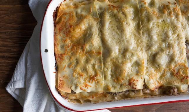 Mushroom Chicken Alfredo Lasagna | Chez Us