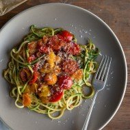 Zucchini Noodles with Blistered Tomatoes | Chez Us