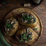 Mushroom Stroganoff Stuffed Baked Potatoes