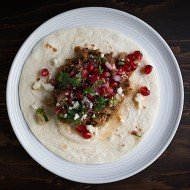 Slow Cooker Harissa Lamb Tacos with Pomegranate Salsa