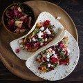 Leftover Turkey Tacos with Cranberry Avocado Salsa