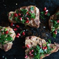 Lamb Loin Chops with Pomegranate Gremolata