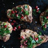 Lamb Loin Chops with Pomegranate Gremolata