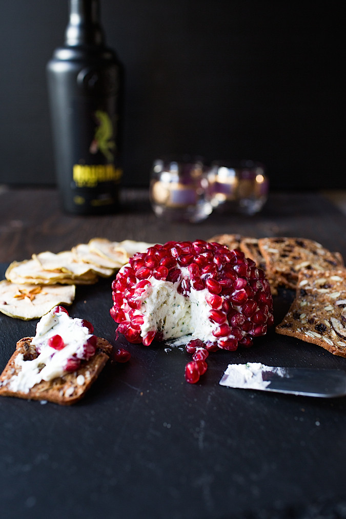 Za'atar Pomegranate Cheese Ball