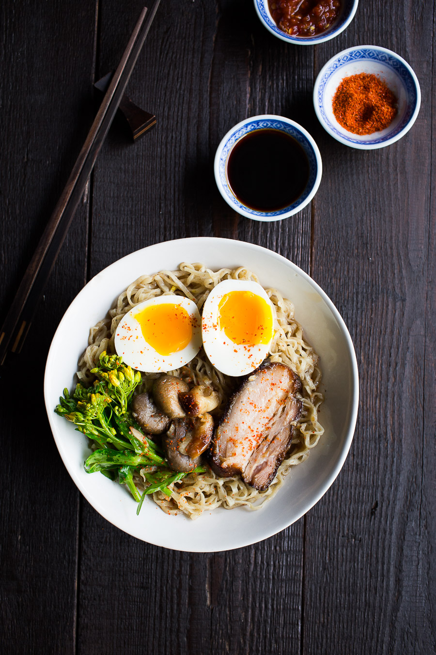 Pork Ramen with homemade ramen noodles