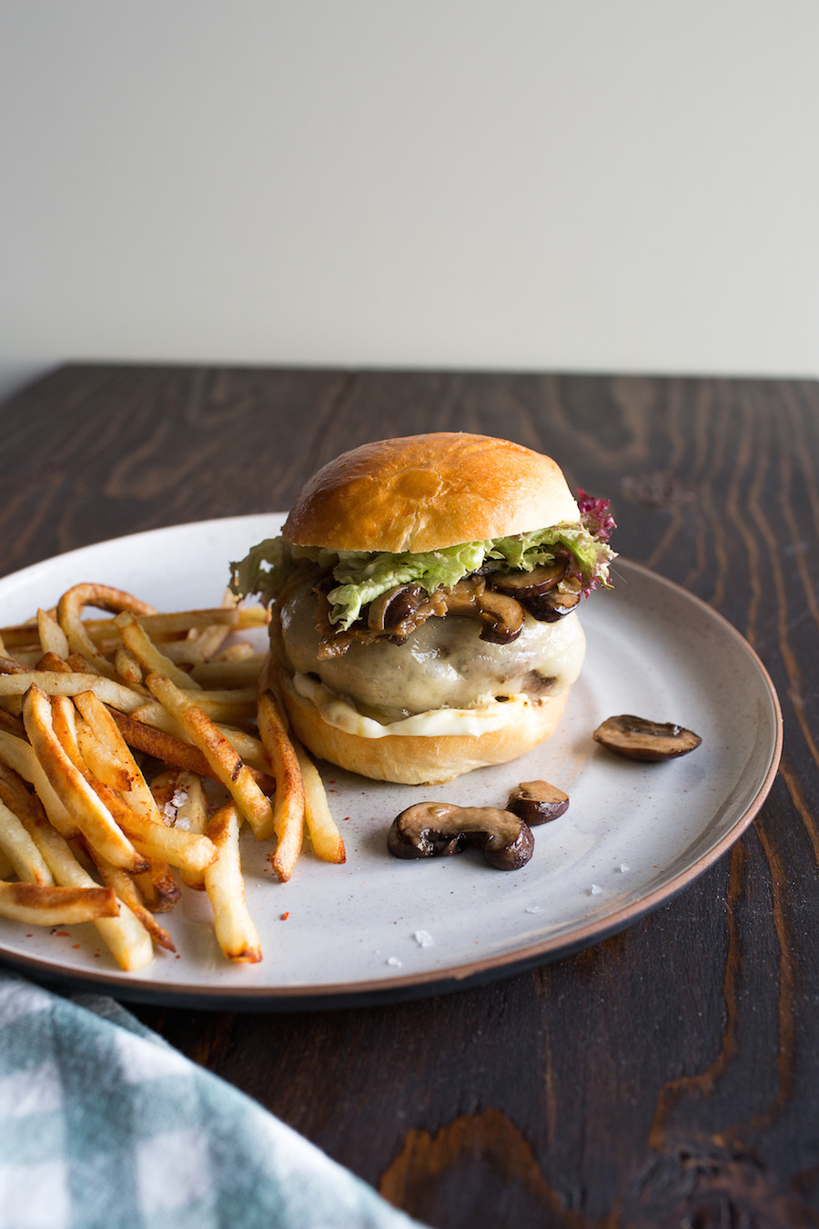 Mushroom Beef and Swiss Cheese Burgers
