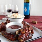 Grilled St. Louis Ribs with Gochujang Raspberry BBQ Sauce
