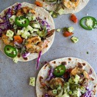 Grilled Butter Jalapeño Shrimp Tacos with Pineapple Salsa