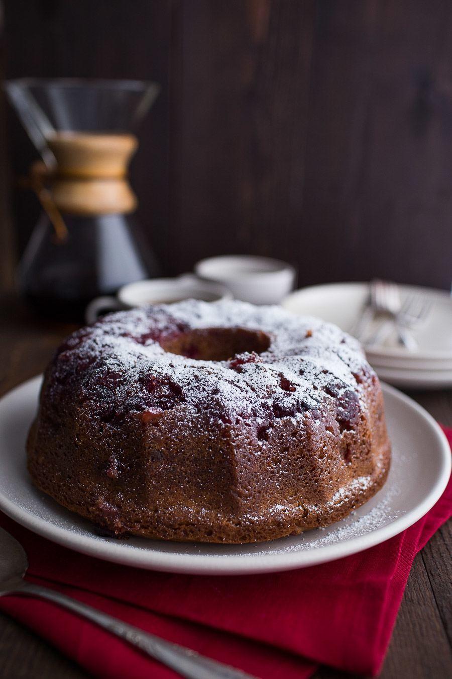 Upside Down Cranberry Coffee Cake