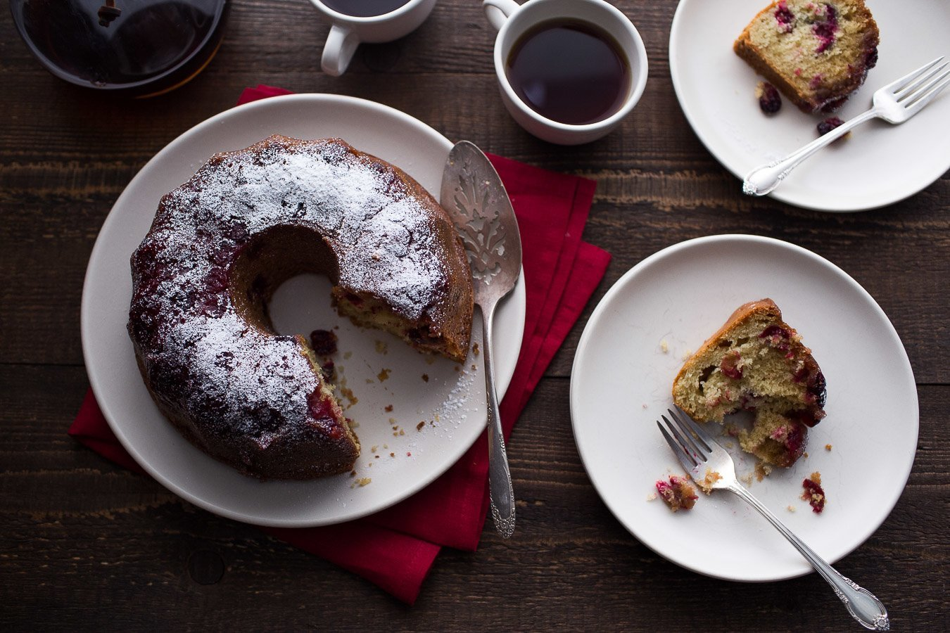 Upside Down Cranberry Coffee Cake